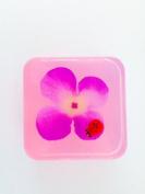 Ladybug Flower Embedded Square Glycerin Soap