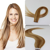 """New Arrival! 18""""20""""22""""24"""" Ombre Tape in Skin Weft Human Hair Extensions 20pcs/pack Colour:#10/24"""