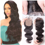 Eayon Hair® Human Hair Silk Base Lace Closure Brazilian Virgin Hair Bleached Knots(4*4) Free Part Top Quality Body Wave Natural Colour Size 41cm