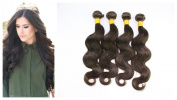 Virgin Brazilian Hair Body Wave Remy Human Hair Unprocessed Natural Hair Extensions #2 Dark Brown 4 Bundles 400g Per Lot AAAAAAA 7A Grade