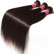 Nadula 6a Brazilian Straight Hair Weaves 3pcs/lot Virgin Remy Human Hair Bundles Natural Colour