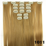 8pcs/set Straight Long Synthetic Hair Extensions Clip in Hair Extension