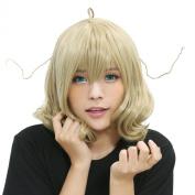 Xcoser Tsukuyomi Sasami Wig Sasamisan@Ganbaranai Sasami Cosplay Short Wavy Anime Wig