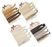 No-Crease Hair Ties Ponytail Holders - 20 pcs (Neutral) By ColorBeBe