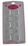 Expressions Hair Pins, Bobby Pins, 50 Per Card, White, 1009
