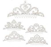 Miniature Princess Crown Tiara Hair Comb, Assorted - Styles Vary