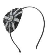Round Beaded Emblem Headband