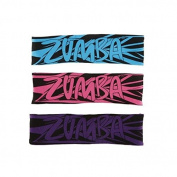 (Ship from USA) Zumba Dance Fitness Go For Geo 2-Way Reversible Headbands! 3 Pack.