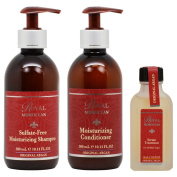 "Royal Moroccan Sulphate-free Shampoo & Conditioner 300ml & Serum Treatment 50ml ""Set"""