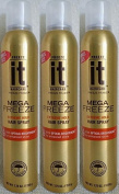 Hairspray IT MEGA FREEZE Extreme Hold Fast Drying Hairspray, Optical Brighteners for Enhanced Shine, 230ml