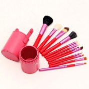 Youngman Professional Makeup Brush Sets Cosmetic Brush Kit Makeup Tool with Cup Leather Holder Case