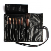 Rivchell 7 Pcs Professional Cosmetic Makeup Brush Set with Leather Travel Bag