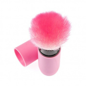 ANKKO Professional Face Foundation Powder Cosmetic Makeup Retractable Brush Pink