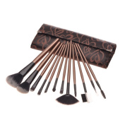 ORVR Makeup Brush Set Professional 12 Pieces Animal hair Handle Makeup brushes