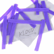 KLOUD City® 30 Pcs Purple Cosmetic Pen Sheath Make Up Brush Mesh Netting Protector Cover Case