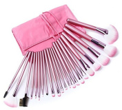 MZL 22 PCS Pink Professional Makeup Brush Set Cosmetics Eyeshadow powder blush Face Brushes Makeup Brush Kit with Pink Bag