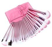 MZL 22 PCS Pink Professional Makeup Brush Set Cosmetics Eyeshadow powder blush Face Brushes Makeup Brush Kit with Pink Bag