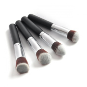 Airblasters Professional 4 pcs Black Synthetic Kabuki Flat Foundation Brush Single Makeup Cosmetic Brush