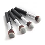 Airblasters Professional 4 pcs Black Synthetic Kabuki Flat Foundation Brush Single Makeup Cosmetic Brush