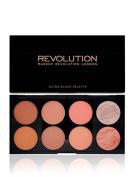 Makeup Revolution Ultra Blush Contour Palette Face Powder Natural - Hot Spice Foundation Palette Professional
