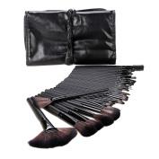 32 Pcs Makeup Brush Powder Foundation Eyeshadow Eyeliner Lip Cosmetic Set