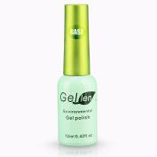 Gellen Soak Off Gel Base Coat 0.42 Fl Oze 12ml Green Bottle Packaged