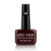 Gellen Soak Off Gel Top Coat 0.33 Fl Oze 8ml Brown Bottle Packaged