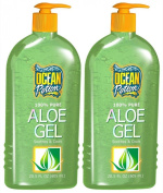 Ocean Potion 100% Pure Aloe Vera Gel-610ml, 2 pack