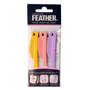 Feather FLAMINGO Facial Touch-up Razor 3pcs