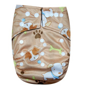 "See Nappies Bamboo Charcoal One Size Baby Cloth Nappy 2 Bamboo Inserts "" Dogs """