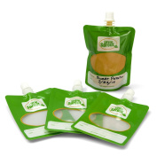 Baby Food Pouches- Disposable Food Pouches for No Mess Feeding (Pack of 48) - Works with all Fill Stations including Infantino