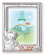 Silver Touch USA Sterling Silver Bear Honey Bee Picture Frame, Pink