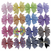 QingHan® Grosgrain Ribbon Pinwheel Boutique Hair Bow Alligator Clips Baby Girls Kids Teens Toddlers Chirldren Hair Pins Barrette