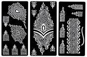 Zaffron Henna Mehendi Mehndi Stencil Sheets for Eid Ramadan Mehendi Raat or Wedding Parties