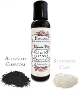 Ultimate DETOX Face Wash - Activated Charcoal and Bentonite CLAY Facial Cleanser with Organic Tea Tree, Oregano, Lemongrass & Sandalwood for a Clear and Refined Complextion - No SLS - No Parabens, No Artifical Colour or Scent