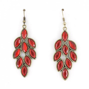 Elegant Simple Gold Tone Leaf Shape Dangle Drop Earrings