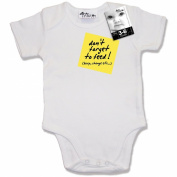 Dirty Fingers, Post-it, Don't forget to feed, Burp, Change etc.., Baby Bodysuit / Baby Grow