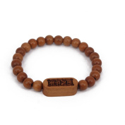 Men's Women Myrtus Wood Bracelet Link Wrist Tibetan Buddhist Beads Paryer Mala Chinese Adjustable Elatic