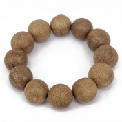 Men's Women Indonesia Natural Agarwood Bracelet Link Wrist Tibetan Buddhist Beads Paryer Mala Chinese Adjustable Elatic