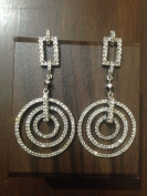 2.06 Ct Diamond Studded 14k Gold Loop Earrings