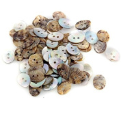 Skyus® 100 X Oval Mother of Pearl Shell Craft Buttons 18x13mm CHIC