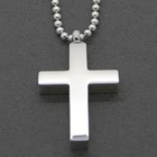 Cremation Ashes Urn Cross Necklace Stainless Steel Pendant Jewellery