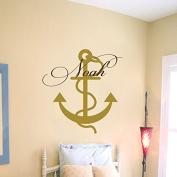 Wall Decal Boy Custom Personalised Name Sea Theme Kids Anchor Vinyl Decal Sticker Home Decor Living Children's Baby Room Nursery ML247