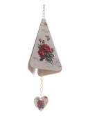 Kangkang@ Indoor/outdoor Decor Triangle Rose Wind Chimes/ Doorbell [A] Wrought Iron of the Lacquer That Bake Fresh Roses Bells Birthday Housewarming Gift Decoration