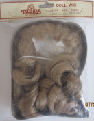 Tallina's Craft DOLL HAIR WIG Style #725 Fits SIZE 30cm Colour DARK BLONDE w Front Bangs & 6 Tendrils (Ringlets) at Back