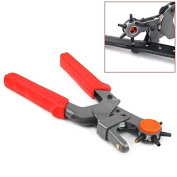Heavy Duty Hole Punch Plastic Plier Puncher with 6 Hole Sizes for Leather products and Belt by TARGARIAN