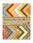 Paperhues Handmade Paper Pad, 60 Sheets, 22cm By 28cm , Assorted Colours & Designs
