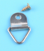 50x Triangle D-Ring Hanging Picture Frame Hook Painting Mirror Hanger & Screw