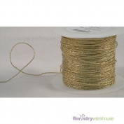 FloristryWarehouse Foil Covered Glitter Wire x 109 yards Gold