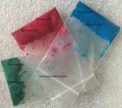 Pack of 3 Vibrant Oil Soluble Sample 1 Gramme Melt and Pour Micas 1g Soap Making Cosmetic Pigment Blue RED Green Powder